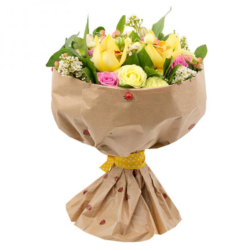 Цветочный микс с орхидеями