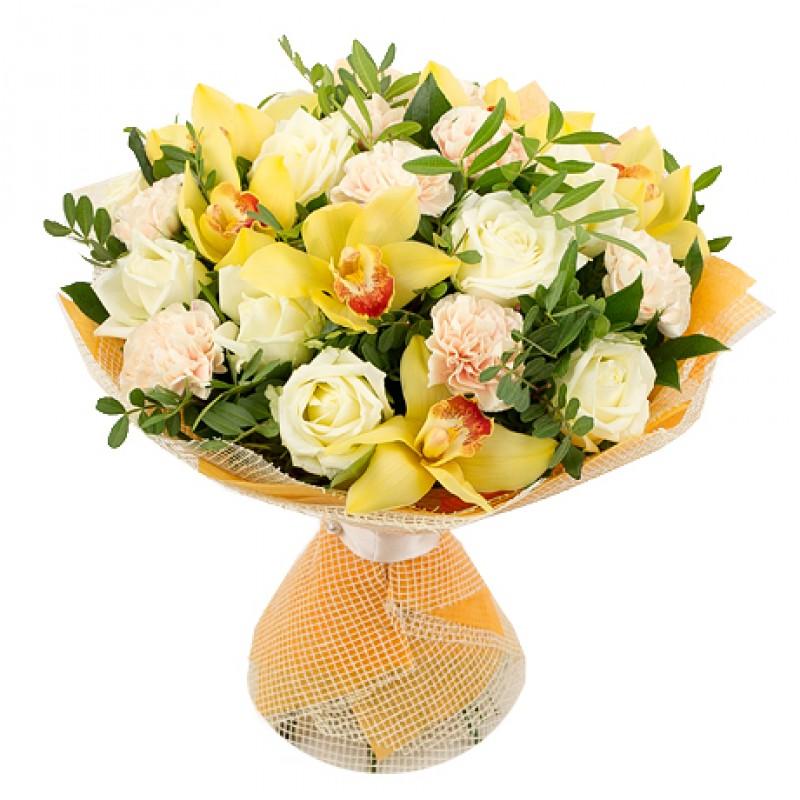 Букет с желтыми орхидеями (большой)