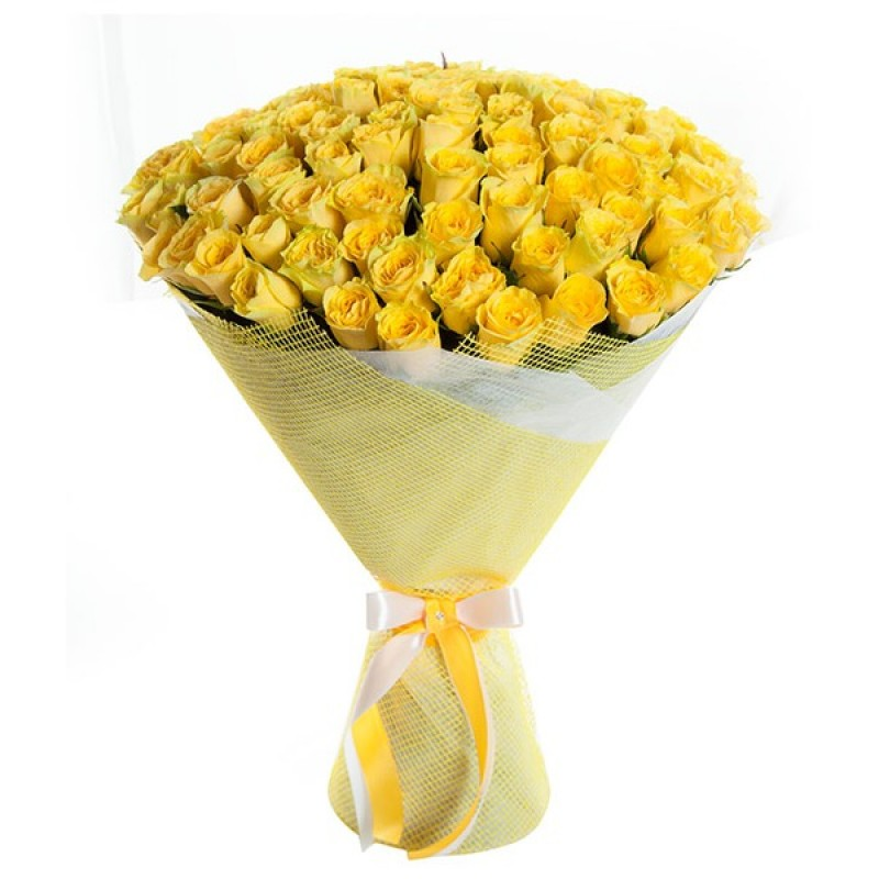 Букет из желтых роз