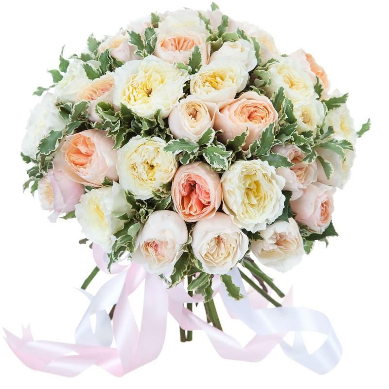 """Букет из разноцветных роз """"Девид Остин"""""""