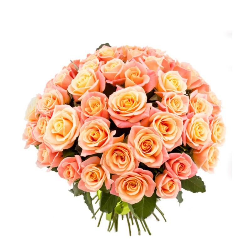 """Букет из персиковых роз """"Мисс Пигги"""""""