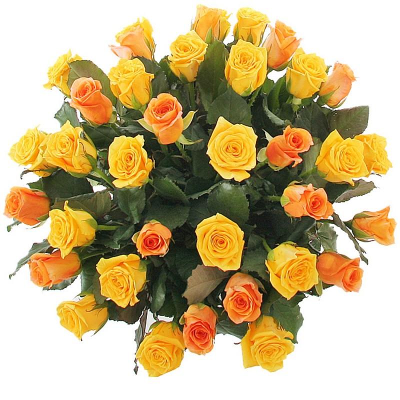 Букет из желто - оранжевых роз
